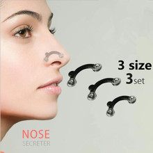 Buy 3Set /3 Size Beauty Nose Lifting Bridge Shaper Massage Tool Pain Nose Shaping Clip Clipper Women Massager without Silicone for $1.16 in AliExpress store
