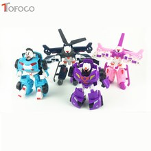 TOFOCO South Korea Robot Car Mini Transformation ABS Airplane Decoration Micro Landscape Decoration Toys For Children