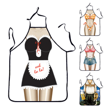 Lovely Cooking Apron Funny BBQ Party Apron Naked Women Sexy Rude Cheeky Kitchen Cooking Apron F2-05L