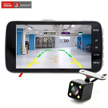 """Junsun 4.0 """"Cámara del coche DVR de Doble Lente con LDWS ADAS de visión Trasera soporte Frontal advertencia de Distancia Del Coche Full HD 1080 P coche dvr dashcam"""