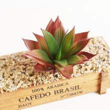 2017 New Artificial Succulents Arrangements Fake Plants Stems Mini Faux Succulents Decorative Plastic Cactus Greenery Cheap