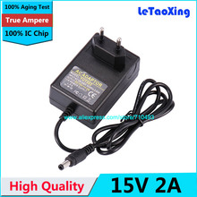 High Quality AC 100-240V to DC 15V 2A Power Adapter Supply 1.2A Charger adaptor With IC Chip EU UE Plug 1pcs(China)