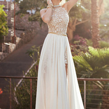 Buy new backless Women dress 2018 summer dresses sexy Lady Halter Backless Long Maxi Split Dresses Party beach lace Dress women