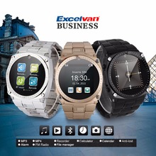 Excelvan TW818D Bluetooth Smart Watch Business Unlocked Phone Watch Camera Pedometer Calls Reminder Anti-lost for Android iOS(China)