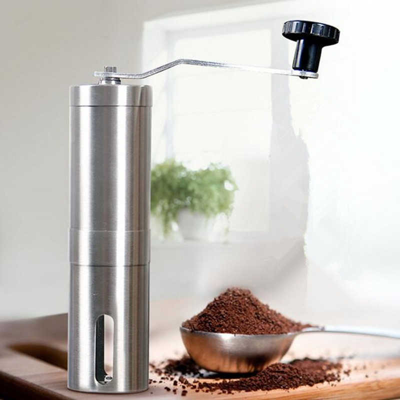 Coffee bean grinder stainless steel manual coffee mill machine kitchen tool<br><br>Aliexpress
