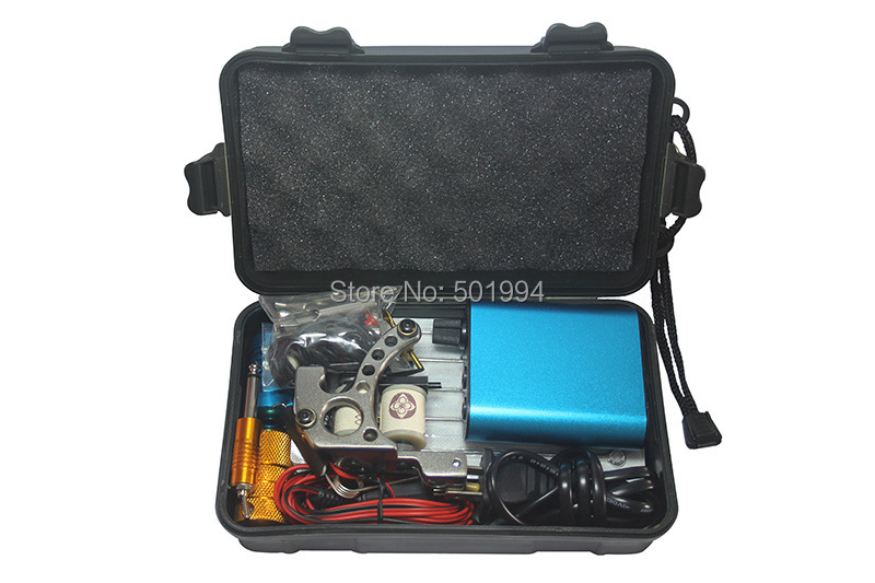 2014 Kit Tattoo Complete Machine with Best Quality Permanent Makeup Machine For Tattoo Equipment Cheap Blue Tattoo Machines<br>