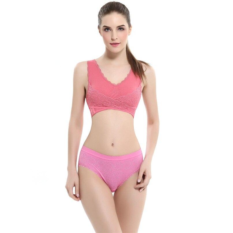 Women Sports Bra Sports Underwear Fitness Yoga Running Pad Cropped Top Sports Wear Tank Tops Anti-Sweat Lace Bra #3j#F (19)