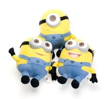MINIONS TOYS DOLL New 18cm(1cm=2.54inch) Me 3D Eyes SOFT TOY Doll PLUSH Skin-Friendly Pillow  Holiday Gifts Toys