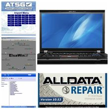 Promotion! 2016 alldata 10.53 repair software+mitchell on demand 2015 2in1 1000gb hdd with T410 I7 CPU laptop ready to work
