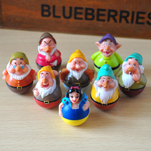 8pcs/lot 3cm Princess Snow White and The Seven Dwarfs Tumbler Action Figures Doll Toys Kids Gifts