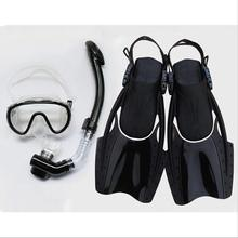 3 Pieces One Dive Snorkel One Diving Mask 1 Flippers Swimming Spearfishing Glasses Scuba Diving Snorkel E
