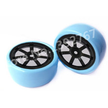 4Pcs/Set RC Drift Cars Tire 63mm*26mm Wheel Rim & Drift Tyre For 1/10 Scale Models RC Car On Road Room Car Tires(China)