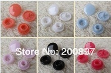wholesale 500sets/lot Super quality 12mm snap combined buttons resin DIY accessories in 18 colors(China)