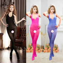 Buy Sexy Lingerie Hot Body stockings Sexy Men's Body Pantyhose Open Crotch Tight Stockings Transparent Pantyhose Sexy Costumes BA055