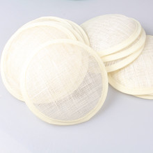 "Free shipping 5.2""(13cm) hot ivory sinamay fascinator base/ sinamay hair accessories,DIY hair accessories 12pieces/lot MYQH019I(China)"