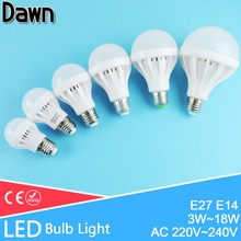 A++High Power LED Light Bulb E27 E14 SMD5730 3W 5W 12W 18W AC 220V 240V Cold Warm White Lamps light Lampara Bombilla Ampoule