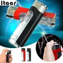 Antistress Jokes Electric Shock Lighter Toy Utility Gadget Gag Trick Christmas Party Gift Anti Stress Toys Random Color