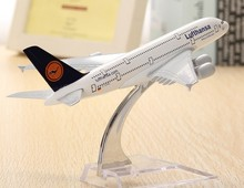 A380 Lufthansa Airplane Aircraft Model 16cm Airline Aeroplan Diecast Model Collection Decor Gift Toys For Children(China)