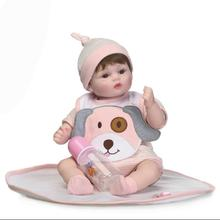 NPKCOLLECTION new design reborn baby doll soft touch with cloth body and wig hair very cute toys for children playing(China)