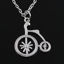 new fashion mediaeval bike bicycle Pendants round cross chain short long Mens Womens silver  necklace Jewelry Gift