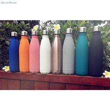 Sweettreats 17oz Double Wall Vacuum Insulated Stainless Steel Water Bottle Perfect for Outdoor Sports