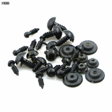 100x 6-12mm Black Plastic Safety Eyes For Teddy Bear Doll Animal Crafts Box