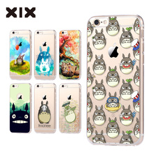 For coque iPhone 5S case 5C 5S 6 6S 7 Plus Totoro soft silicone TPU cover 2016 new arrivals original for fundas iPhone 6S case