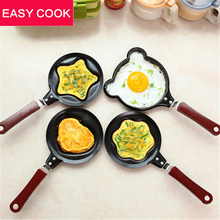 1X Egg Frying Pancakes Kitchen Pan with Stick Housewares Mini Pot DIY 5 Types Can Choose Free Shipping