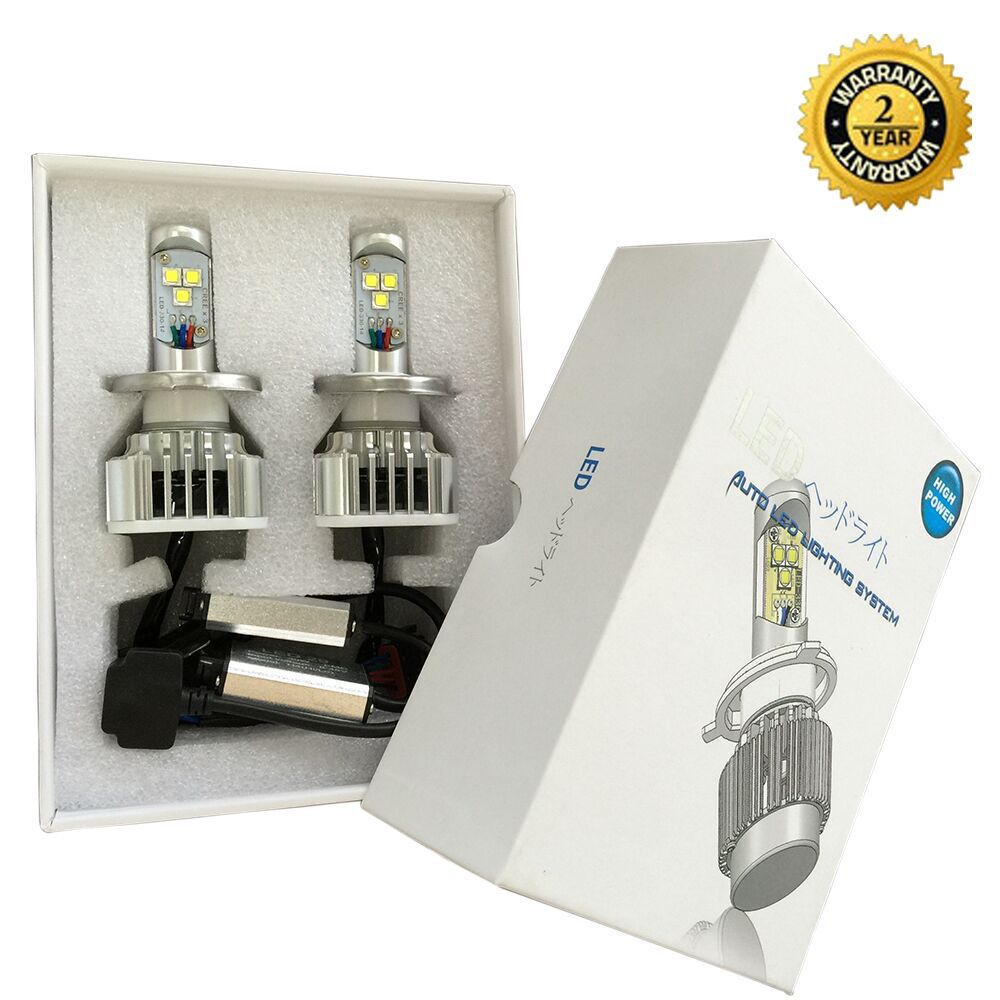 2017 LED  headlight kit H7 6000K 6000LM 60W bulbs Pair<br><br>Aliexpress
