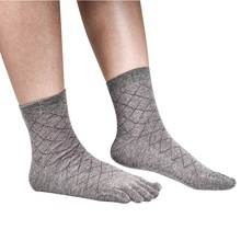 New Men Business Socks Health Bamboo Charcoal Cotton Anti-odor Socks Breathable Toe Socks Casual Men Socks(China)