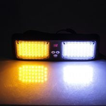 Beacon Flashing LightBar Emergency Harzard Visor Strobe light-86 LED Amber&White