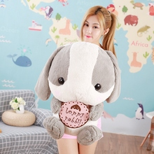 75CM Stuffed Animals Rabbit Dolls Big Eyes Long Ear Lop Rabbits Soft Plush Toys for Children Girls Kids Huggable Doll Gifts(China)