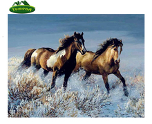 Brown Horse Running 5D Diy Diamond Painting Animals with Glass Cross Stitch Kits Resin Crafts Diamond Embroidery Mosaic Kits(China)