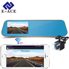 E-ACE Wifi Car Rear View Mirror DVRs Video Recorder Full HD Auto Camera Monitor Sensor Parking Night Vision Registratory Dashcam