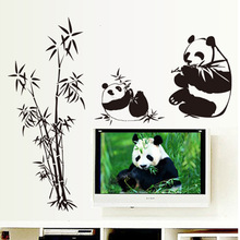 Kids Room TV Wall Stickers Decoration Furnishings Furniture Removable Wall Stickers Panda Bamboo Stickers