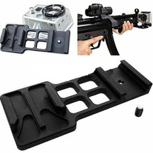 Goprp Hero Picatinny Weaver Gun Guide Rail Mount Center Side Board for Gopro Accessories for Gopro Hero 4 3+ 3 2 1 SJCAM SJ6000