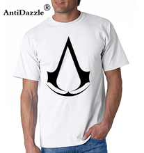 Official Mens Assassins Creed Logo Red T-Shirt Syndicate Rogue Identity Pirates Brand Cotton Men Clothing Male Slim Fit T Shirt(China)