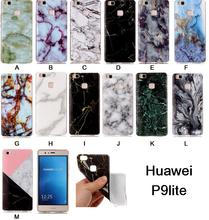 Luxury Case for Huawei P9 Lite TPU Case for Huawei P9Lite VNS-L52 VNS-L22 L53 L21 L23 L01 Marble pattern mobile phone housing