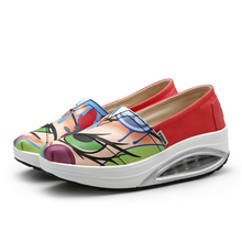 NEW  Women Ladies Canvas Breathable Sneakers Platform  Shape Up Wedge Swing Shoes