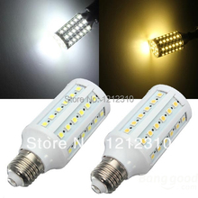 LED Corn Light Bulb 5050 SMD 12W 60LED Light E27 360 degree High Power Warm/ cool Whit 1 Year warranty 20PCS/LOT(China)