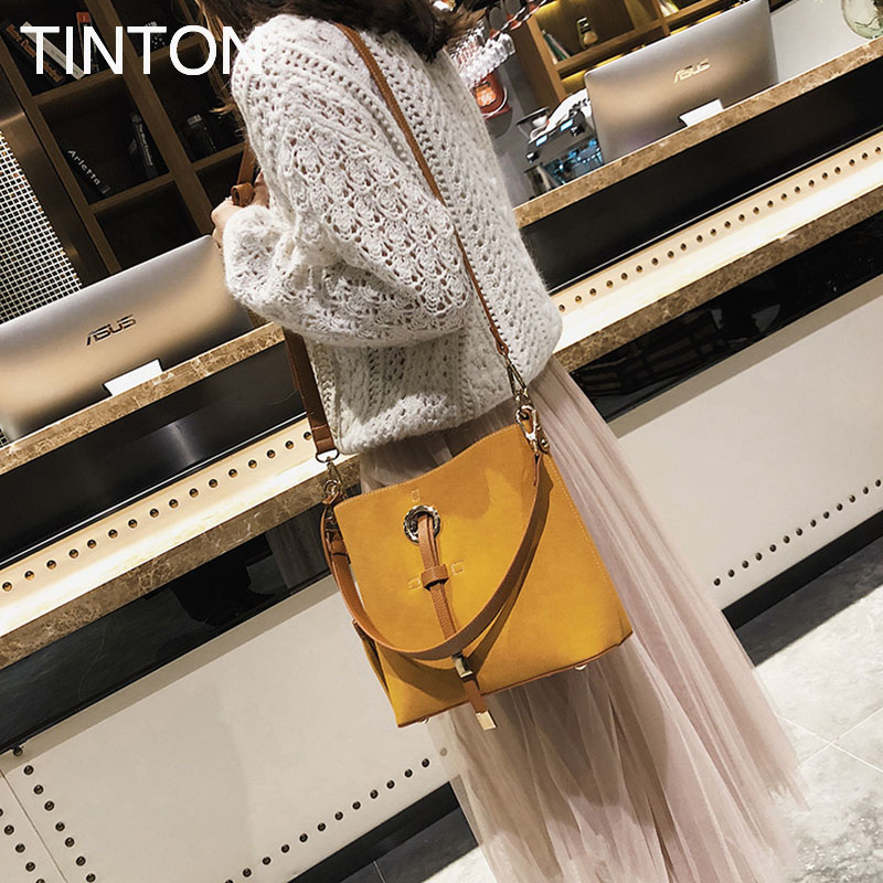 HAOQING New Fashion bags for women 2018 Suede leather tassel bag luxury designer crossbody bags ladies purse female tote gift<br>