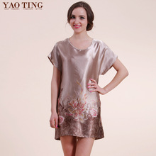 Yao Ting 2014 Summer special offer multi pattern folk style characteristics Home Furnishing loose silk nightwear