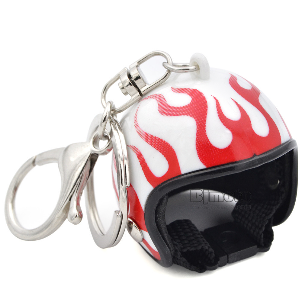 Motorcycle Helmet Key Chain Plastic Casque Keychain Men and Women Key Ring Trendy Key Ring For Car Purse Bag Gift KC-A009 (5)
