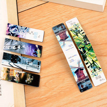 6 pcs/lot Vintage Paris Paper Book Markers Creative Magnetic Bookmark For Books School Supplies Free Shipping 2919