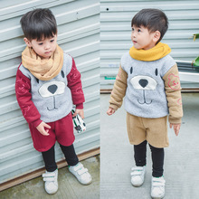 Winter Children Clothing Sets Baby Tracksuit Kids Classic Cartoon Boys Clothes Sets 2ps Children's Outwear Set Baby Suits(China)
