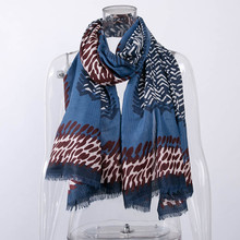 Fashion Lady Women Autumn Winter Warmer Scarves Cotton Fashion Floral Leopard Printed Shawl Scarf winter scarf for women