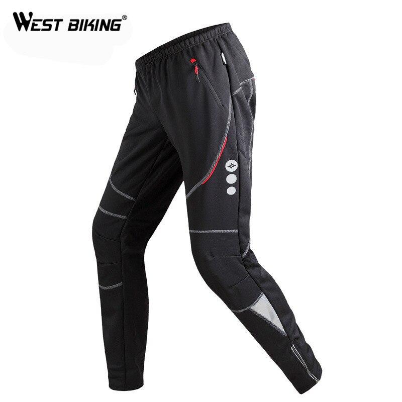 West Biking Cycling Pants Mens Fleece Thermal Sportswear Bicycle Pantalon Windproof Trousers Winter Cycling Bike Pants Trousers<br><br>Aliexpress