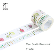 Kinbor Flowers&Plants Craft Paper Tape Scrapbooking Journal Decoration Card Making Sticker Japanese Washi Tape Cute Stationery