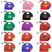 New 50 * 70 CM Kids Superhero Capes and Masks Superman Batman Cape For Kids Party Costumes Halloween Gifts