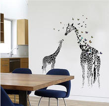 Creativity The wallpaper home decoration stickers giraffe stickers Household style The butterfly artistic paster decals